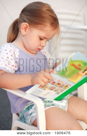 Small Girl Reading