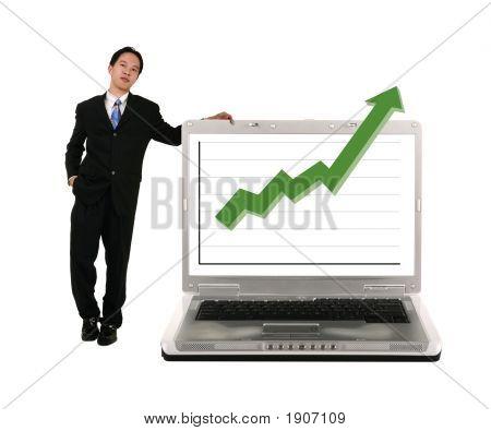 Apoyarse en Laptop con material gráfico
