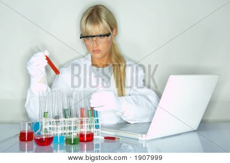 Female In Lab