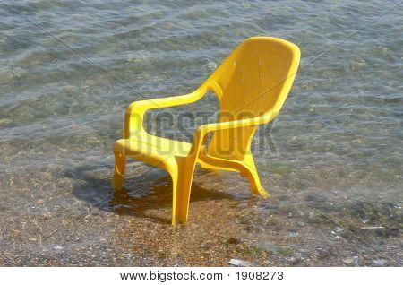 Yellow Chair In The Water