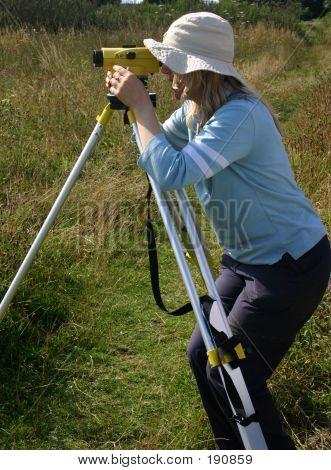 Blond Girl Surveyor