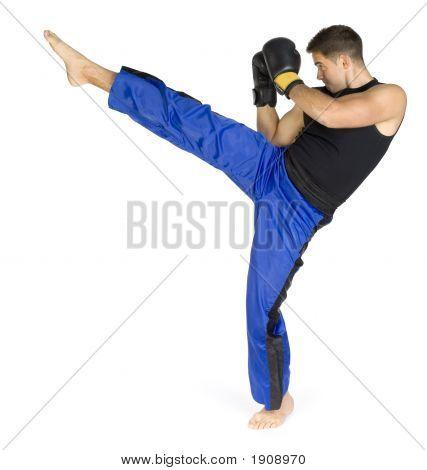 Pontapé do kickboxer