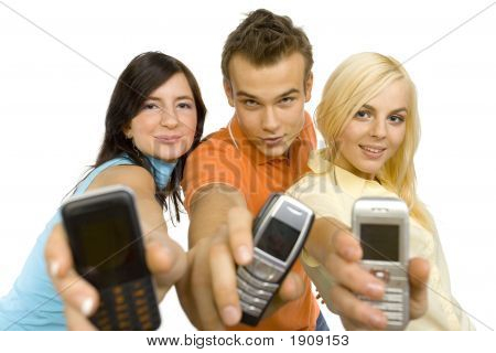 Teenagers Are Showing Mobiles' Screen