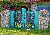 picture of beach-house  - Yard�s Door on a countryside colorful entrance to a beach house