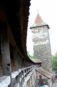 City Wall Of Rothenburg Ob Der Tauber, Medieval Old Town In Germany poster