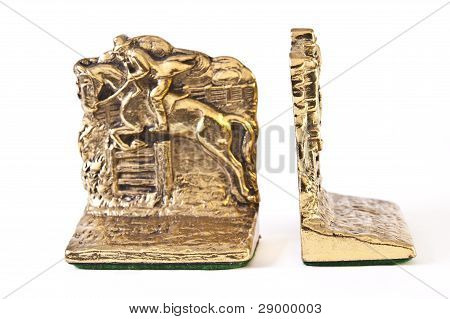 Pair Of Gold Bookends
