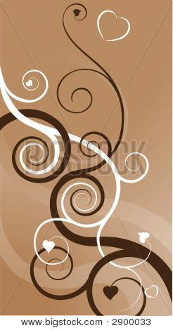 Heart Swirls Abstract Background