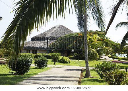 Holidays In A Caribbean Beach.