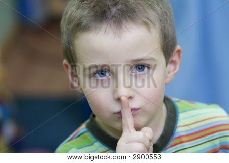Boy Keeping Silent