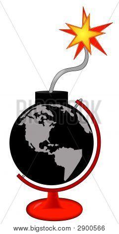 Globe Bomb In Globe Stand