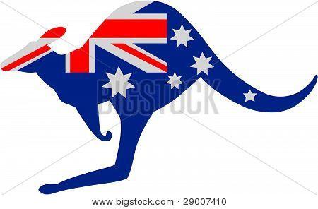 Australian Kangaroo Flag