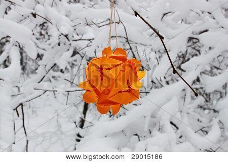 Orange Origami Kusudama