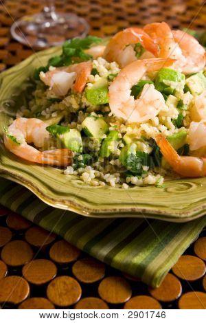 Bulgur Shrimp Salad With Avocado