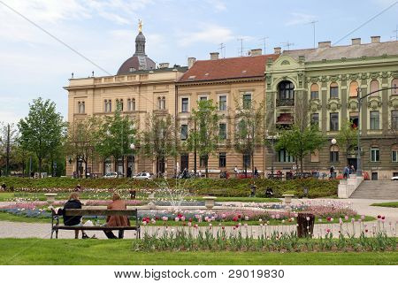 City park in Zagreb-Croatia