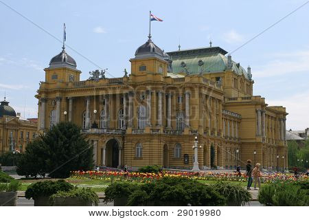 The Croatian National Theatre in Zagreb- Croatia