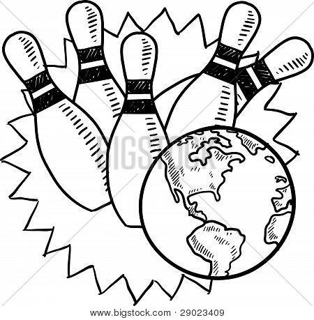 Global bowling sketch