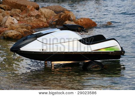 Jet Ski parked in the water