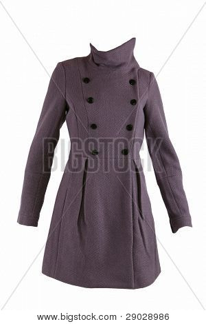 Wool winter coat isolated on white
