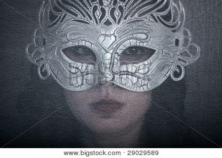 Art Portrait Woman In Mask
