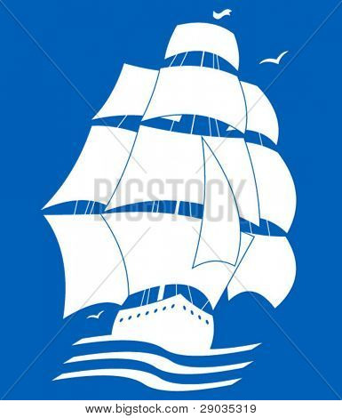 silhouette picture of sailing ship