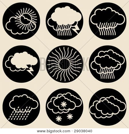 round weather icons