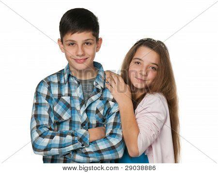 Smiling Teenagers