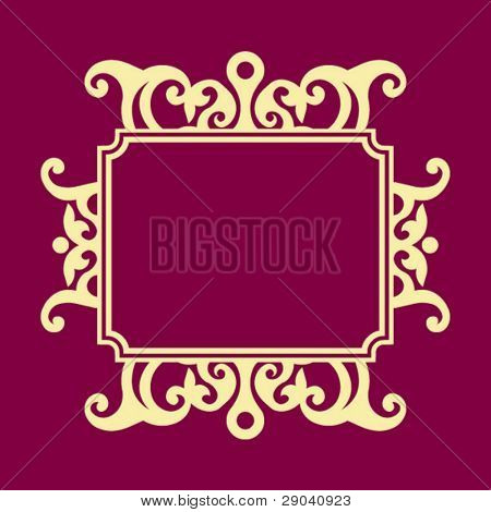 decorative baroque frame