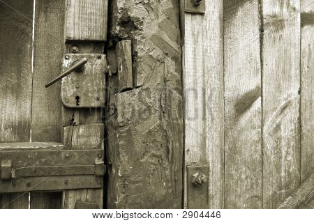 Antique Rusty Door