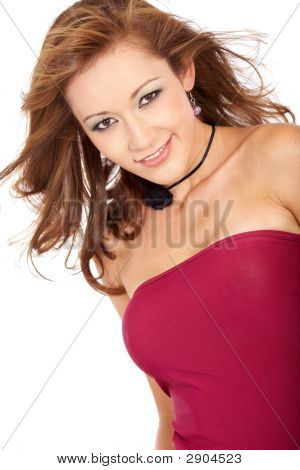 Beautiful Woman Smiling Portrait