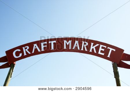 Craft Market Sign