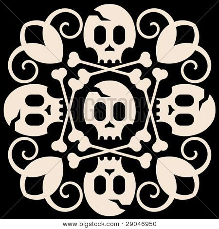 skull and crossbones decoration