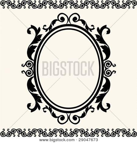 barocke Oval frame