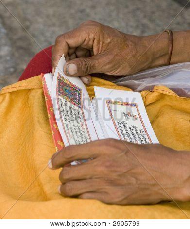 Tibetan Pilgrim In Tibet