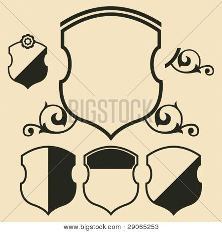 decorative escutcheon, vector design element