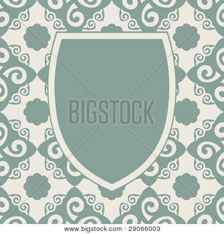 decorative vector escutcheon design
