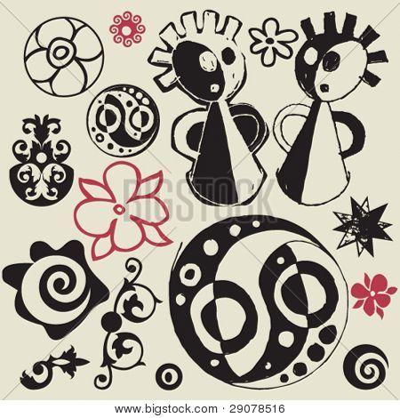 sketchy doodles, vector design elements