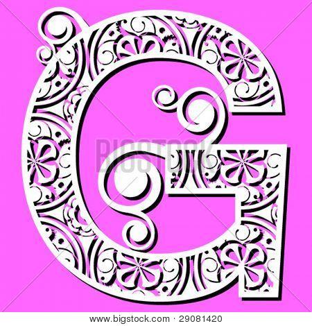 openwork alphabet, letter G
