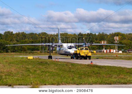 Aeroplane In Tow