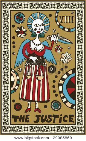 hand drawn tarot deck, major arcana, the justice