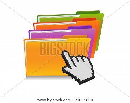Folder And Hand Cursor