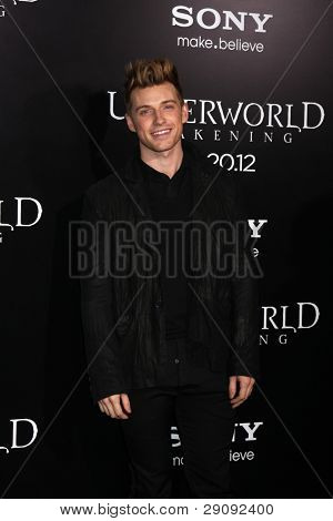 "LOS ANGELES - JAN 19:  Jeremiah Brent arrives at  the ""Underworld Awakening"" Los Angeles Premiere at Graumans Chinese Theater on January 19, 2012 in Los Angeles, CA"