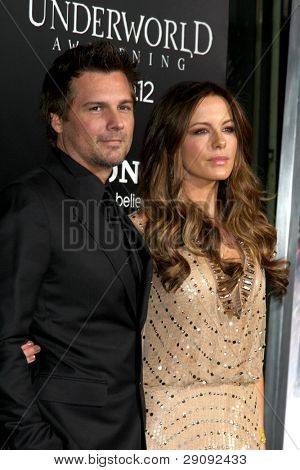 LOS ANGELES - JAN 19:  Len Wiseman, Kate Beckinsale. arrives at  the