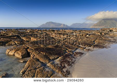 Eroded rocks on the beach - landscape