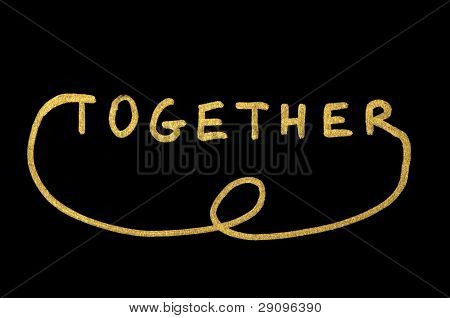 Together Text Over Black