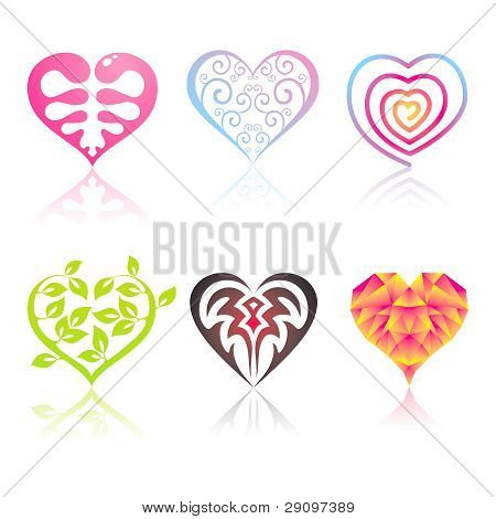 Set Of Icons Hearts