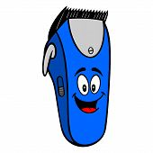 Electrical Hair Clipper Mascot - A Vector Cartoon Illustration Of A Barber Shop Electrical Hair Clip poster