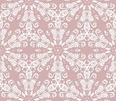 Classic Seamless Purple, White, Pattern. Damask Orient Ornament. Classic Vintage Background poster