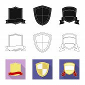 Vector Illustration Of Emblem And Badge Sign. Set Of Emblem And Sticker Stock Symbol For Web. poster
