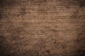 Old Grunge Dark Textured Wooden Background, The Surface Of The Old Brown Wood Texture, Top View Brow poster