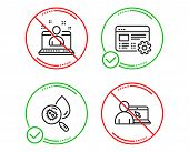 Do Or Stop. Best Manager, Water Analysis And Web Settings Icons Simple Set. Online Education Sign. B poster